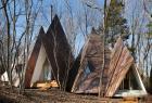 """林间的""""火焰""""状住宅 不一样的建筑风格"""