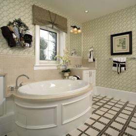卫生间小浴缸效果图
