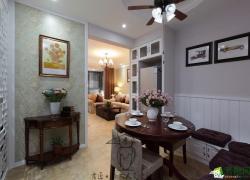 【绵阳神州南都】83平米两室两厅美式装修设计