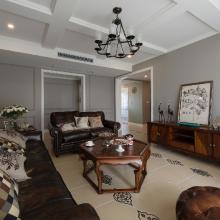 美式风格90平米三居室装修案例