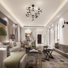 資陽幸福公館96平米三室現代風格家裝案例