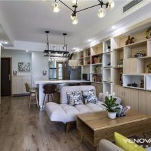 成都华阳麓山国际社区三居室北欧风格半包8万装修