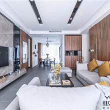 成都市马家公馆100㎡现代三居室半包装修