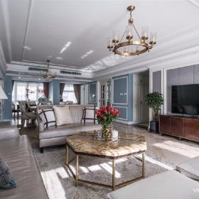 成都天鵝湖280平米四居室美式風格半包裝修