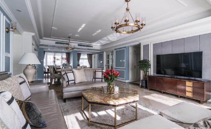 成都天鹅湖280平米四居室美式风格半包装修