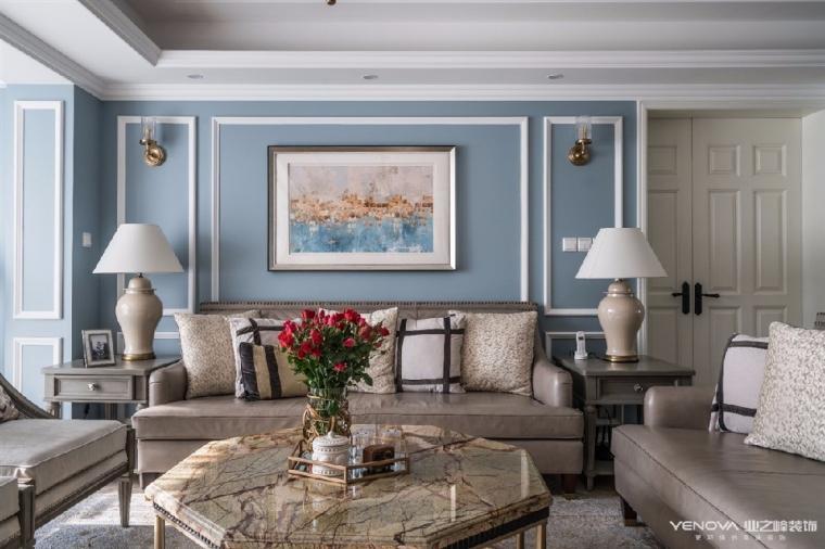 成都天鹅湖280平米四居室美式风格半包装修 图6