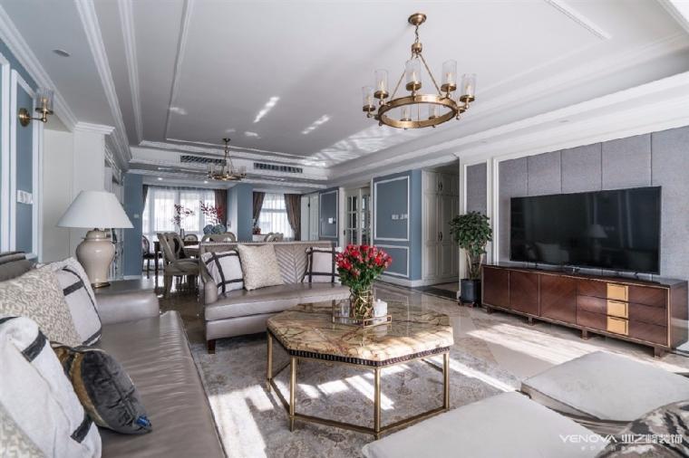 成都天鹅湖280平米四居室美式风格半包装修 图4