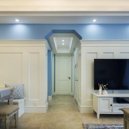 广安明发国际小区93平米三居室北欧风格装修