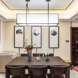 【武胜县城市江山】120平米三居室中式风格家装设计