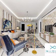 德阳龙湾上城三居室半包8万装修设计案例