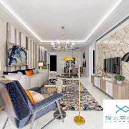 德陽龍灣上城三居室半包8萬裝修設計案例