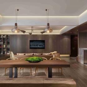 2020新中式四居客廳圖片