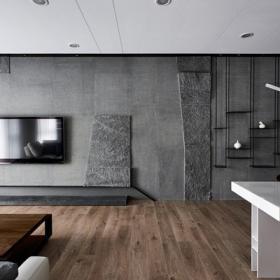 2020四居室大客廳吊頂效果圖