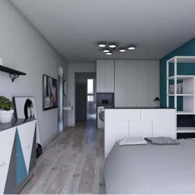 現代簡約小戶型客廳臥室一體裝修圖片