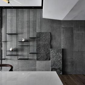 現代簡約客廳背景墻圖