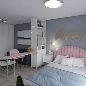 2021小戶型客廳臥室一體裝修圖