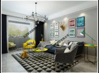 現代簡約客廳沙發背景墻圖片