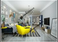 現代輕奢風格客廳沙發電視墻裝修圖片