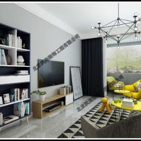 現代簡約客廳電視墻裝修圖片