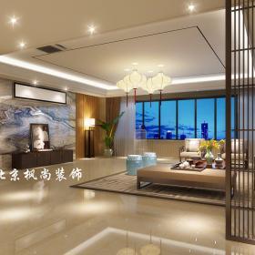 2021新中式客廳吊頂電視背景墻裝修效果圖