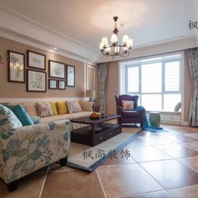 地中海風格客廳沙發背景墻2021裝修圖片