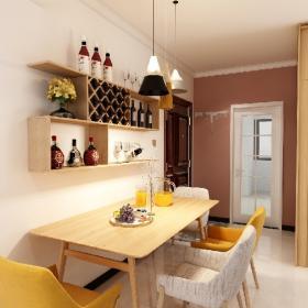 小戶型餐廳餐桌紅酒架裝飾效果圖