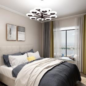 現代簡約臥室窗簾裝修效果圖