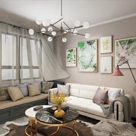 現代風格客廳沙發背景墻裝飾畫效果圖