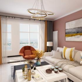 小戶型現代簡約客廳背景墻裝修效果圖