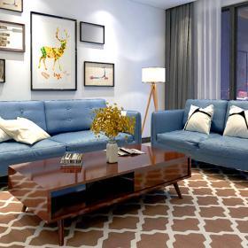 客廳背景墻現代裝修風格