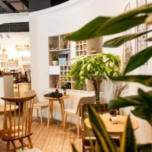 100㎡北歐極簡餐飲空間裝修案例