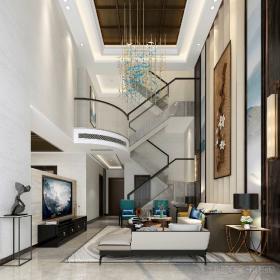 別墅客廳樓梯設計圖