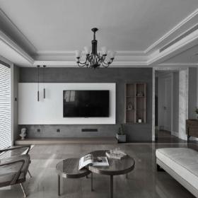 現代簡約客廳吊頂電視背景墻