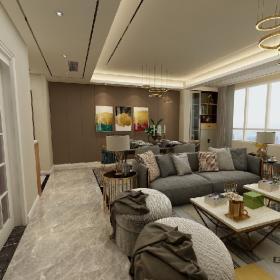 三居室簡約客廳裝修效果圖
