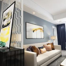 現代簡約客廳沙發背景畫效果圖