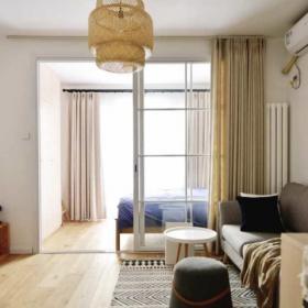 簡約風格客廳臥室一體隔斷裝修