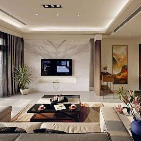 現代簡約客廳吊頂裝修效果圖片