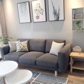 75平米現代簡約客廳沙發背景墻