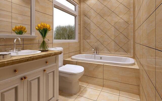 卫生间瓷砖铺贴�_厕所瓷砖铺贴效果图,这样的厕所你见过吗-维客网装修资讯