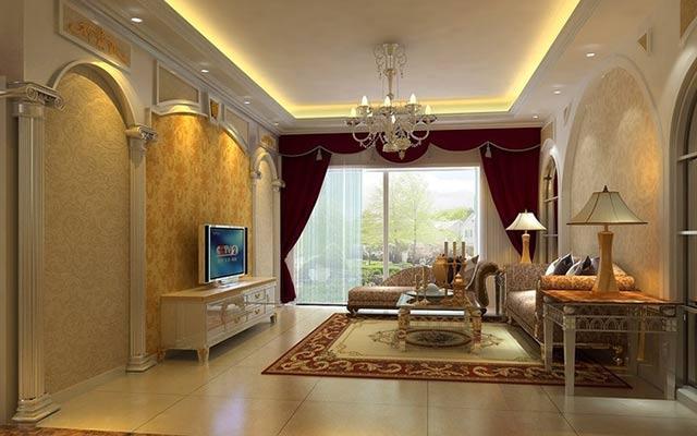 客厅罗马柱效果图欣赏,诠释优雅与尊贵家装 维客网装修资讯