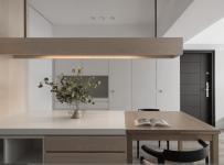 灰色极简住宅设计餐厅图