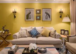 明亮混搭三居室装修效果图案例