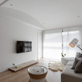 混搭风单层公寓客厅设计