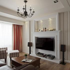 時尚簡歐風格客廳設計