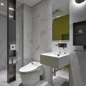 现代灰色系卫生间设计效果图
