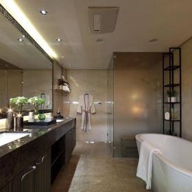 109平簡約時尚住宅設計衛生間效果圖