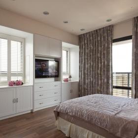 時尚簡歐風格臥室窗簾圖