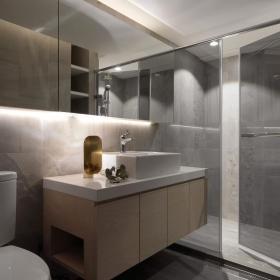 灰色极简住宅卫生间设计