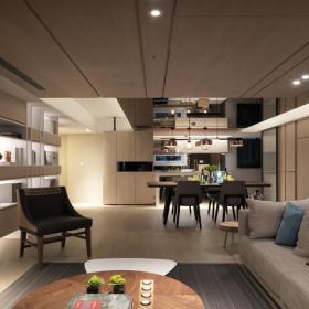 102平北欧风格客厅设计