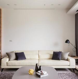 活潑簡單宜家風格客廳沙發圖